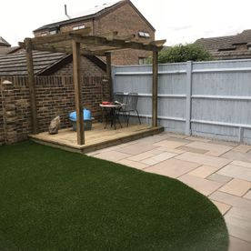 Artificial Turf and Patio