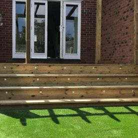 Decking steps that our team have recently done for a residential customer
