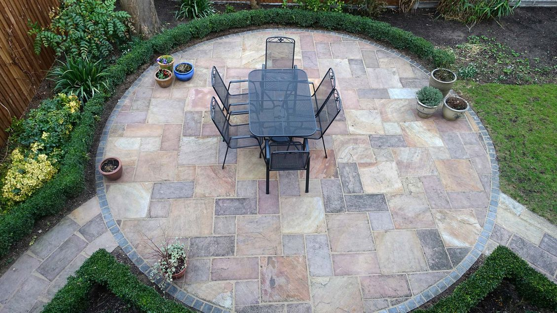 Patio work that has been done by our team