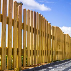 A small fence that has been built by our team