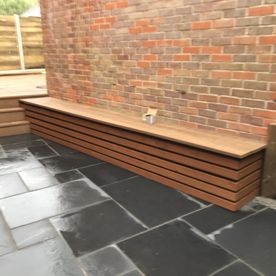 Black Limestone Patio