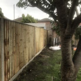 Fence installed by our team