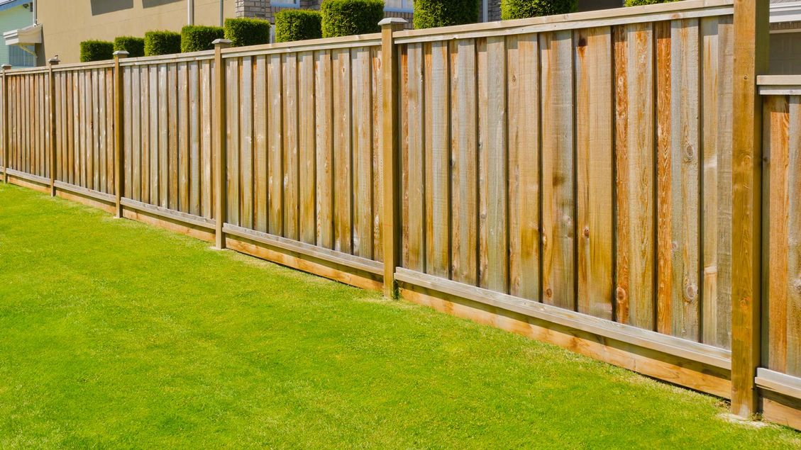 A fence that has recently been installed by our team