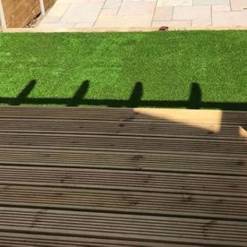 Decking that has been installed by our team